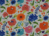 Heirloom Prints Hl-les Aquarelles Linen Floral Fabric